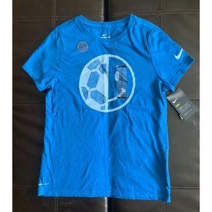 NWT Nike Dri Fit Cotton Soccer Prints T shirt